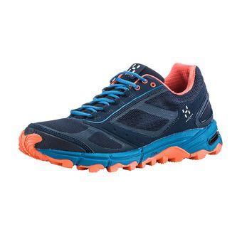 Haglofs GRAM GRAVEL - Zapatillas de trail mujer tarn blue/coral pink