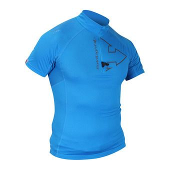 Maillot 1/2 zip MC homme PERFORMER electric blue