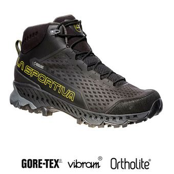 La Sportiva STREAM GTX - Chaussures randonnée Homme black/yellow