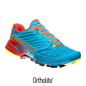 Zapatillas hombre AKASHA tropic blue/cardinal red