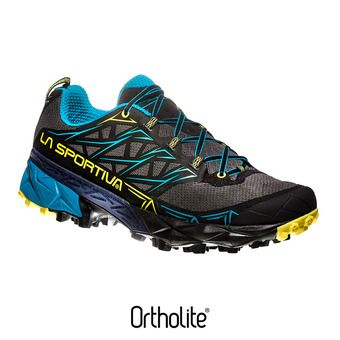 La Sportiva AKYRA - Chaussures trail Homme carbon/tropic blue