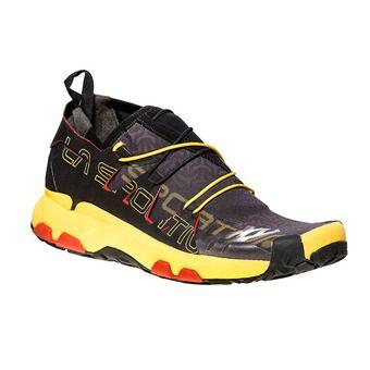 La Sportiva UNIKA - Scarpe da trail Uomo black/yellow