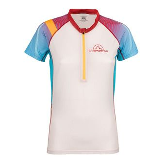 Maillot MC femme SPEED berry/white