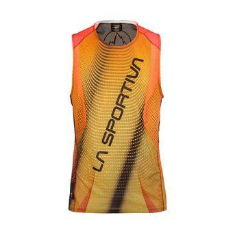Camiseta hombre VELOCITY black/yellow
