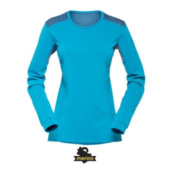Norrona FALKETIND SUPER WOOL - Camiseta mujer blue moon