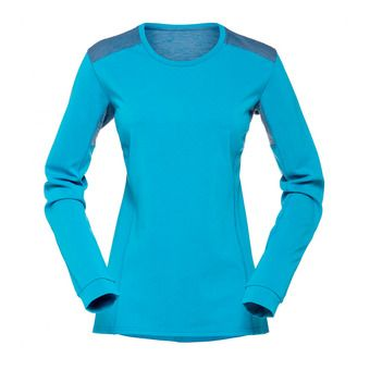 LS Jersey - Women's - FALKETIND SUPER WOOL blue moon