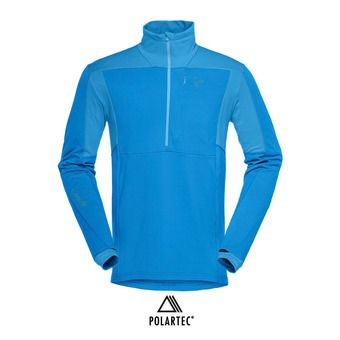 Polaire 1/2 zip Polartec® homme FALKETIND WARM1 STRETCH hot sapphire