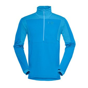 Polartec® Fleece - 1/2 Zip - Men's - FALKETIND WARM1 STRETCH hot sapphire