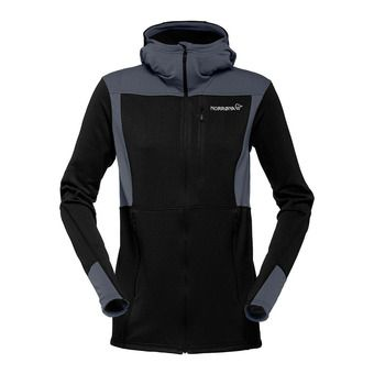 Hooded Polartec® Fleece - Women's - FALKETIND WARM1 caviar