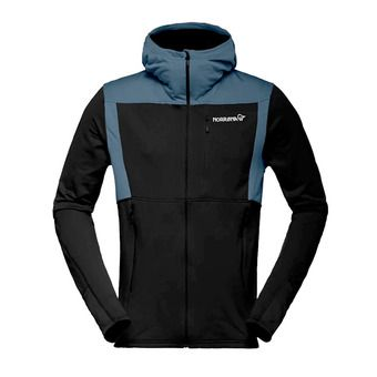 Hooded Polartec® Fleece - Men's - FALKETIND WARM1 caviar