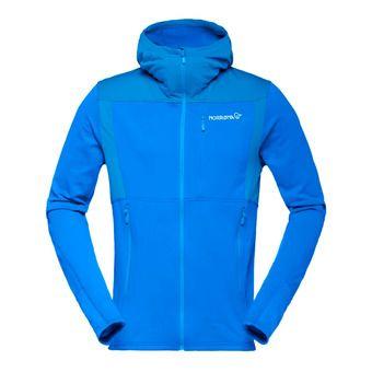 Hooded Polartec® Fleece - Men's - FALKETIND WARM1 hot sapphire