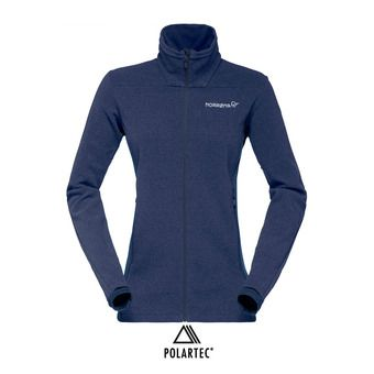 Polaire zippée Polartec® femme FALKETIND WARM1 indigo night