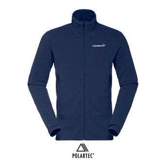Polaire zippée Polartec® homme FALKETIND WARM1 indigo night