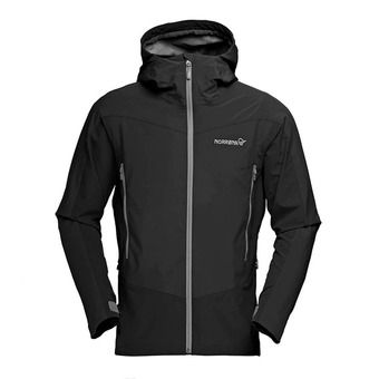 Gore Windstopper® Hooded Jacket - Men's - FALKETIND HYBRID caviar