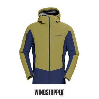 Veste à capuche Gore Windstopper® homme FALKETIND HYBRID olive drab
