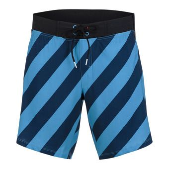 "Short homme BOARDSHORT 8"" blue stripe"
