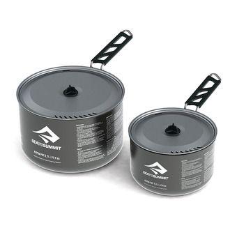 Set of 2 Pots - 1.2L/2.7L ALPHAPOT aluminium