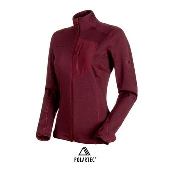 Polaire femme ACONCAGUA LIGHT ML merlot melange