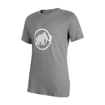 Tee-shirt MC homme MAMMUT LOGO granit/white