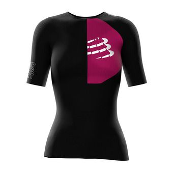 Maillot de compression MC femme TRIATHLON POSTURAL noir