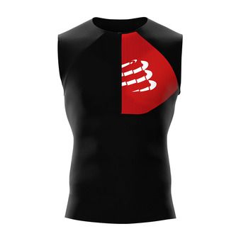 Compressport TRIATHLON POSTURAL - Camiseta hombre black