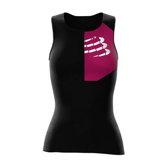Compressport TRIATHLON POSTURAL ULTRA - Camiseta mujer black