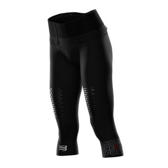 Compressport TRAIL RUNNING UNDER CONTROL - Collant 3/4 Femme noir