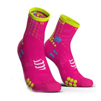 Compressport PRORACING V3 RUN - Socks - pink fluo