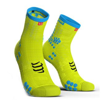 Chaussettes montantes PRORACING V3 RUN jaune fluo