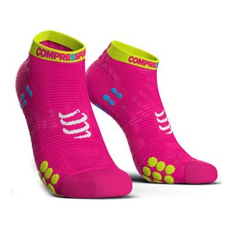 Chaussettes basses femme PRORACING V3 RUN rose fluo