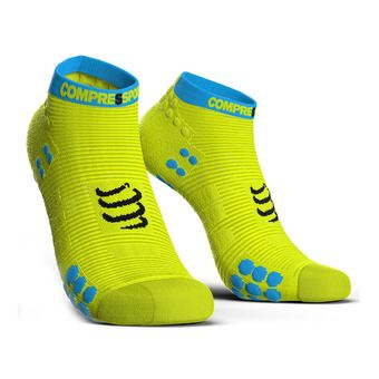 Chaussettes basses PRORACING V3 RUN jaune fluo