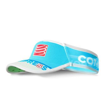 Compressport ULTRALIGHT V2 - Visera blue fluo