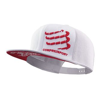Compressport FLAT - Gorra white