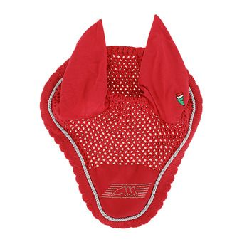 Equiline BIRCK - Bonnet anti-mouches rouge vermillon