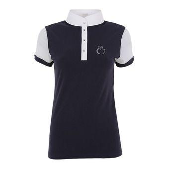 Equiline SUNNY - Polo concours Femme bleu/blanc