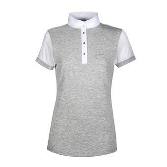 Polo de concours MC femme SUNNY gris/blanc