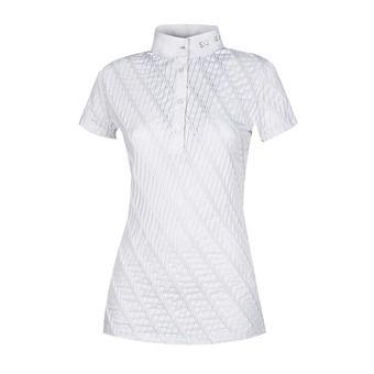Equiline MAUVE - Polo concours Femme blanc