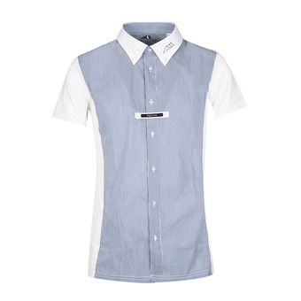 Chemise de concours MC homme FAREL bleu clair