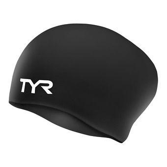 Tyr LONG HAIR - Gorro de natación mujer black