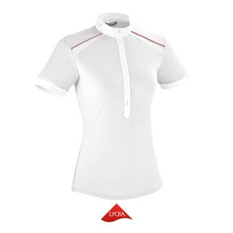 Polo de concours MC femme AERIAL II blanc