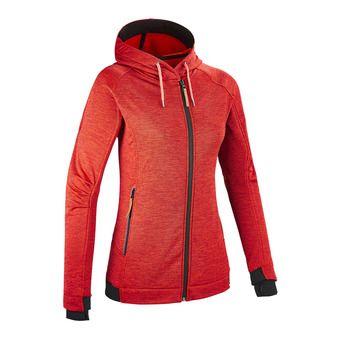 Sweat à capuche zippé femme TEMPEST II rouge