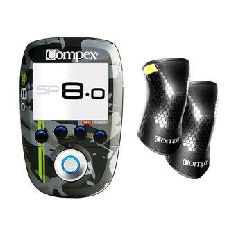 Compex SP 8.0 WOD EDITION - Électrostimulateur + Genouillères noir