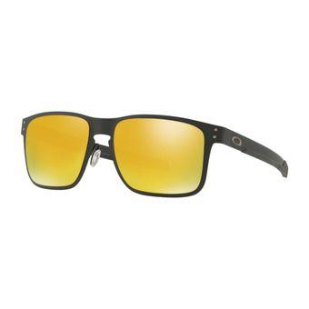 Oakley HOLBROOK METAL - Sunglasses - matt black/24k iridium