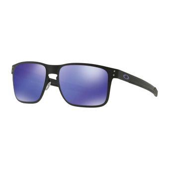 Oakley HOLBROOK METAL - Sunglasses - matt black/violet iridium