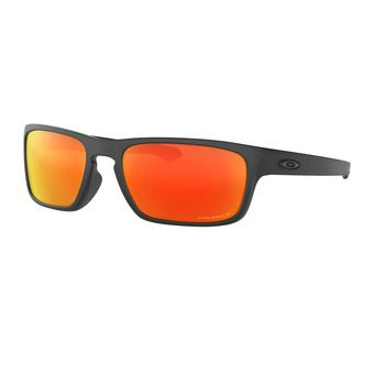Oakley SLIVER STEALTH - Lunettes de soleil polarisées matte black/prizm ruby