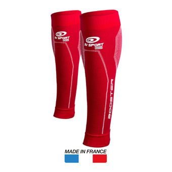 Bv Sport BOOSTER ELITE - Manchons compression rouge