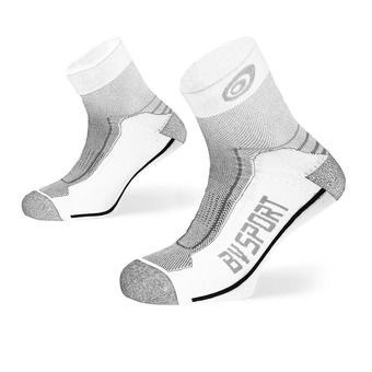 Bv Sport DOUBLE POLYAMIDE LOW - Chaussettes blanc/gris