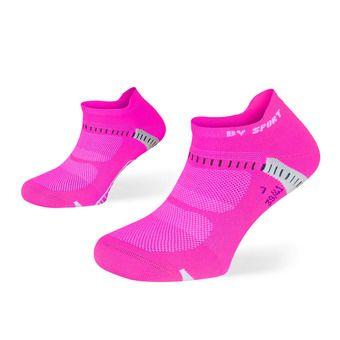 Pack de 2 pares de calcetines de running mujer LIGHT ONE ULTRAS COURTES negro/rosa