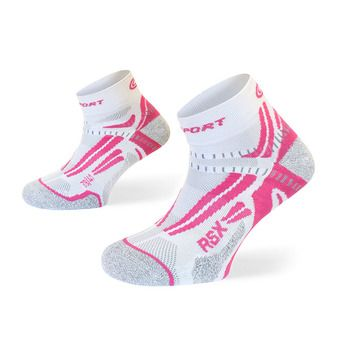Bv Sport RSX EVO - Chaussettes Femme blanc/rose