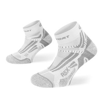 Calcetines de running RSX EVO blanco/gris